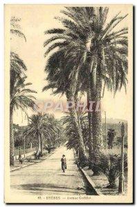 Old Postcard Hyeres Avenue Godillot