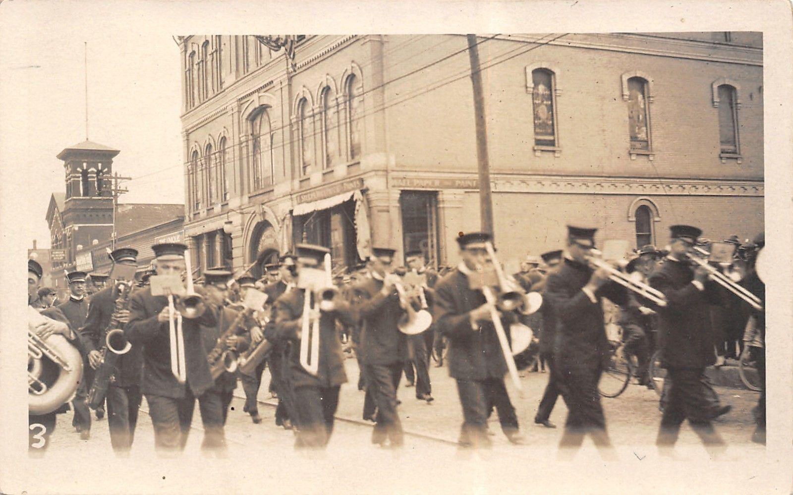 Real Photo Postcarduniformed Marching Bandpaint