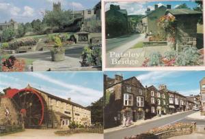 Pateley Bridge Watermill Elderly Man Pondering in Thought 4x Postcard s