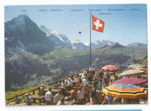 Switzerland Grindelwald Bergrestaurant Alps Restaurant 1972