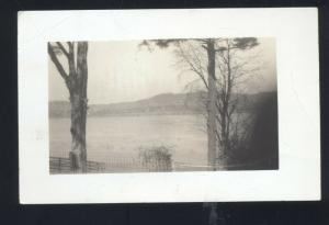 RPPC OHIO RIVER CEMETARY FROM THE OLD KENTUCKY HOME REAL PHOTO POSTCARD