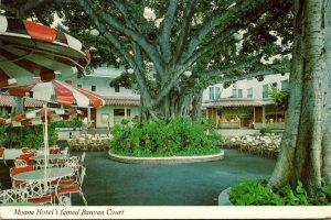 Hawaii Waikiki Beach Moana Hotel's Banyan Court 1976