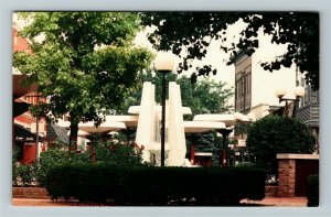 Richmond IN- Indiana, Promenade, Pedestrian Shopping Area, Chrome Postcard