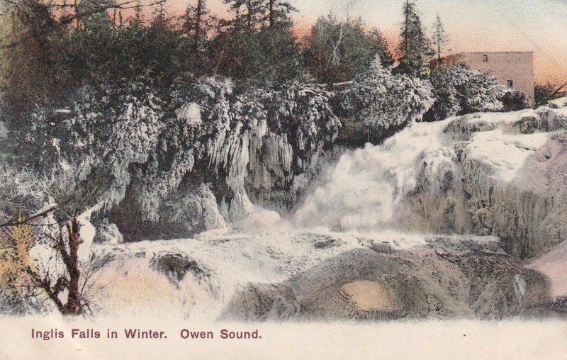 OWEN SOUND, Ontario, Canada, PU-1907; Inglis Falls In Winter