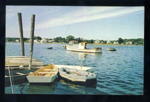 Kennebunkport, Maine/ME Postcard, Cape Porpoise Harbor, Row Boats