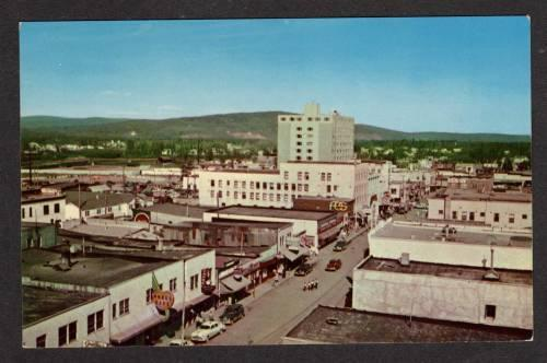 AK View Second Ave Stores FAIRBANKS ALASKA Postcard