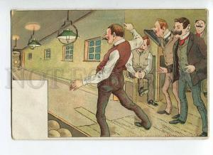 264794 COMIC Sport BOWLING Vintage REGINA #178-d postcard