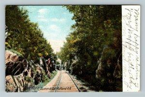 Summit Cut VT-Vermont, Rutland Railroad, Vintage Postcard
