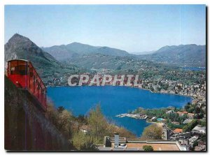 Postcard Modern funiculare Lugano Cassarate Monte Bre