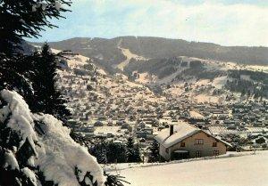 France Gerardmer Vue sur la Ville et les Pistes Ski Mauselaine Postcard