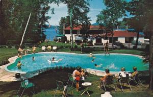 Lac Quimet Resort, Swimming Pool, St. Jovite, Quebec, Canada, 40-60s