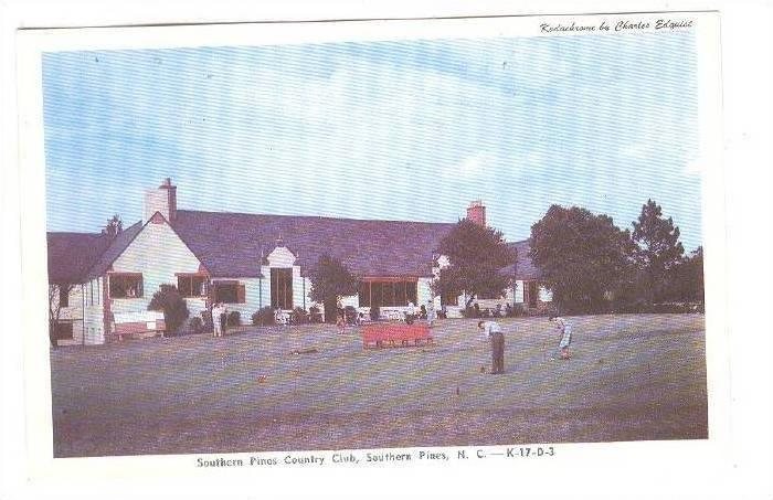 Exterior, Southern Pines Country Club,  Southern Pines, North Carolina, 40-60s