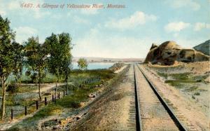 MT - Yellowstone River, Railroad Tracks