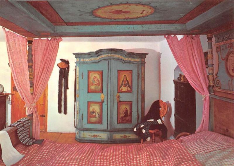 Bauernhofmuseum Illerbeuren Krs. Memmingen Schlafzimmer Mit Himmelbett
