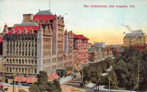 The Auditorium, Los Angeles, California, Early Postcard, Used in 1914