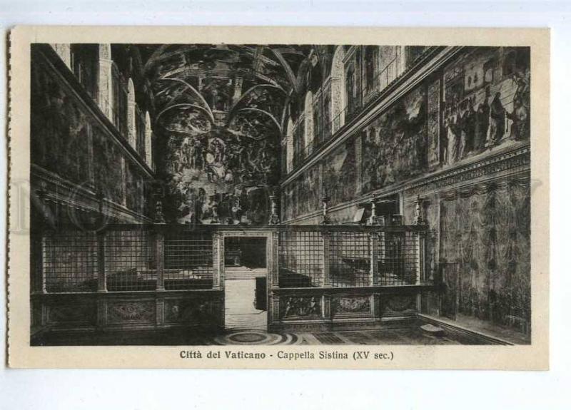 190668 Vatican Sistine Chapel Vintage postcard