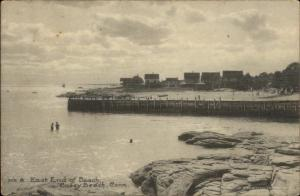 Cosey Beach CT East End of Beach c1915 Postcard