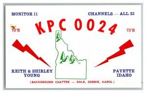QSL Radio Card From Payette Idaho KPC 0024