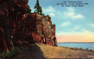 Maine Bar Harbor Acadia National Park Mt Desert Island Cathedral Rock Curteich