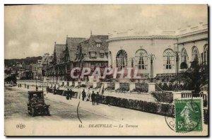Old Postcard Deauville La Terrasse