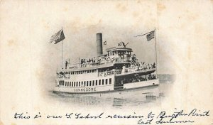 Steamship Ferry Commodore Antique Passengers People 1909 UDB VTG P133