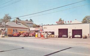 Old Orchard ME Briggs Garage Citgo Gas Station Tow Trucks Wreckers Postcard