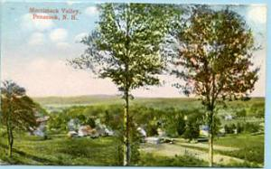 NH - Penacook, Merrimack Valley Miniature Postcard