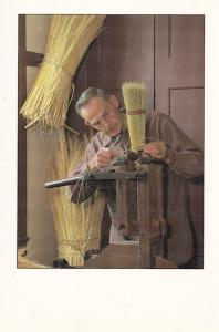 Victorian Broom Shop For Kentucky Sweepers Straw American Shop Postcard