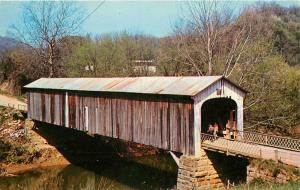 COW RUN BRIDGE - COVERED WOODEN BRIDGE  #25 MARIETTA, OHIO POST CARD - 66048