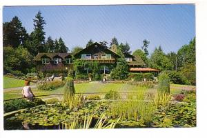 Lily Pond and Pavilion, Stanley Park Entrance, Vancouver, BC,