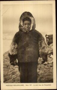 French Mission Eskimos Arctic Greenland or Newfoundland? c1915 Postcard #5