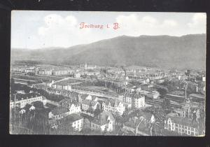 FREIBURG I.B. GERMANY BIRDSEYE VIEW DOWNTOWN ANTIQUE VINTAGE POSTCARD