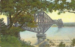 Le Pont de Quebec Canada Quebec Bridge Canada Series Unposted Postcard