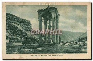 Old Postcard Annot Historic Monument