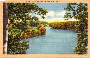 Pennsylvania Greetings From Lansdale