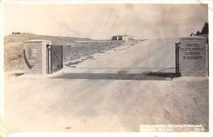 Montana~Custer Battlefield National Monument~Entrance~1950s Roahen RPPC