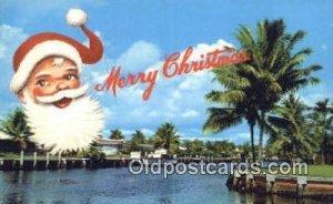 Florida Greeting Santa Claus Chirstmas Carte, Postal Postal 1962