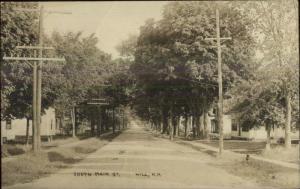 Hill NH South Main St. c1910 Real Photo Postcard