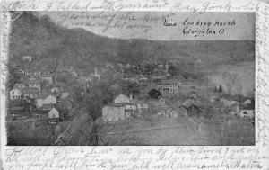 E91/ Clarington Ohio Monroe County Postcard 1907 View Looking North Birdseye 8