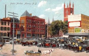 Public Market Albany, New York Postcard
