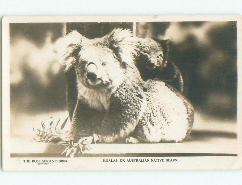 old rppc NICE VIEW Country Of Australia i1806
