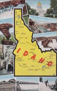 Map Of Idaho With Multi Views