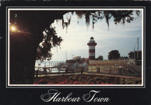 HILTON HEAD ISLAND, South Carolina; Harbour Town, Lighthouse, PU-1990
