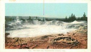 C-1905 Yellowstone Wyoming Paint Pot Detroit Photographic Postcard 20-6374