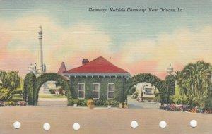 NEW ORLEANS, Louisiana, 30-40s; Gateway, Metairie Cemetery