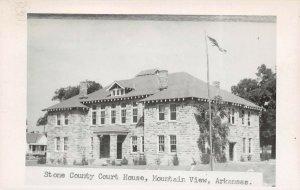 LPCH36 Mountain View Arkansas Stone County Court House RPPC