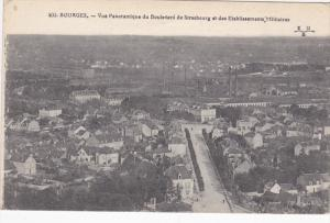 BOURGES, Cher, France, 1900-1910's; Vue Panoramique Du Boulevard De Strasbour...