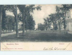 Pre-1907 PARK SCENE Royalston Massachusetts MA hp9783