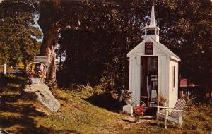 Wiscasset ME World's Smallest Church (One of the Small Ones) Lawn Chair 1950s