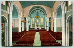 Seattle Washington~St James Cathedral Interior & Altar~Empty Pews~c1910